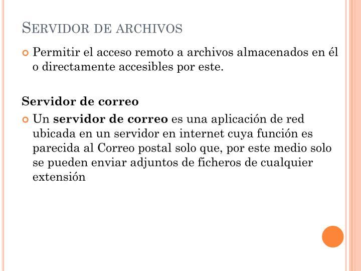 Servidor de archivos