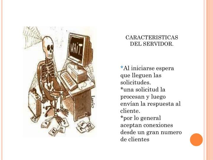 CARACTERISTICAS DEL SERVIDOR.