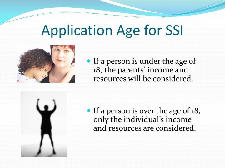 Application Age for SSI