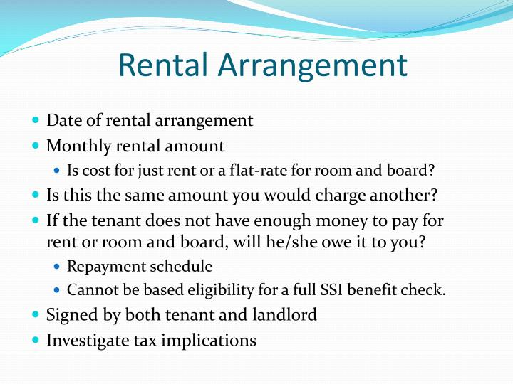 Rental Arrangement
