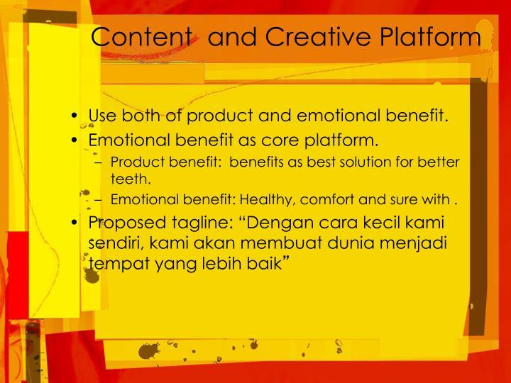 Content  and Creative Platform