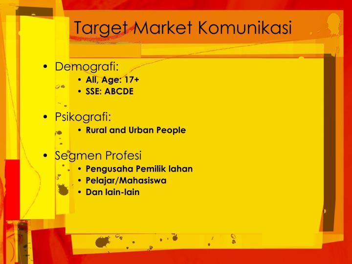 Target Market Komunikasi