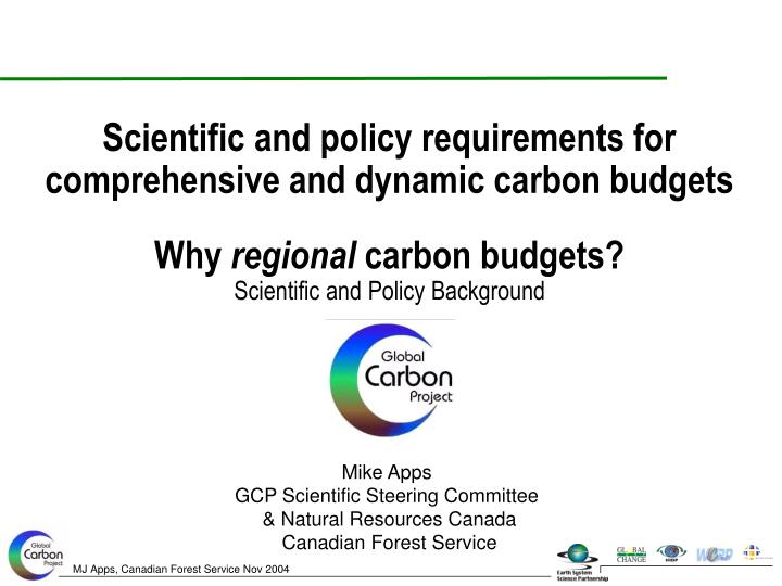 Why regional carbon budgets scientific and policy background