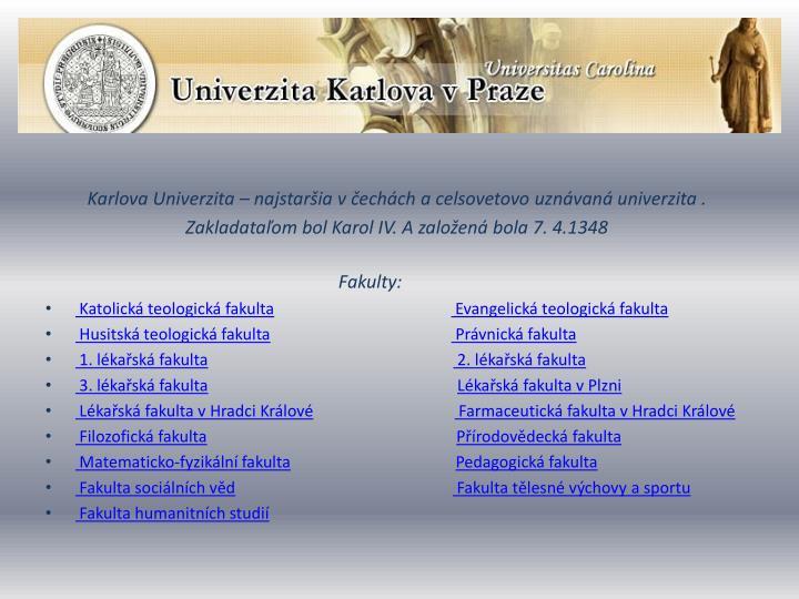 Karlova Univerzita –