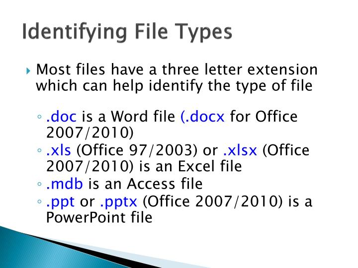 Identifying File Types