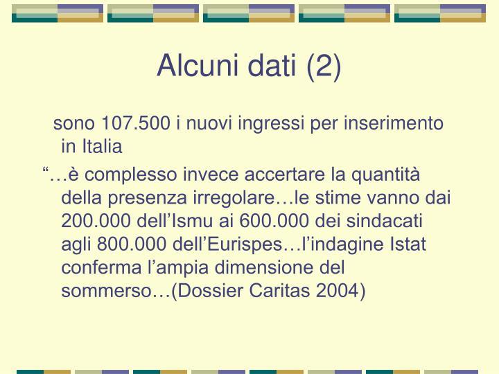 Alcuni dati (2)