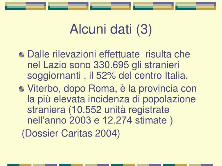 Alcuni dati (3)