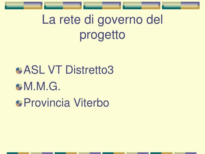 La rete di governo del progetto