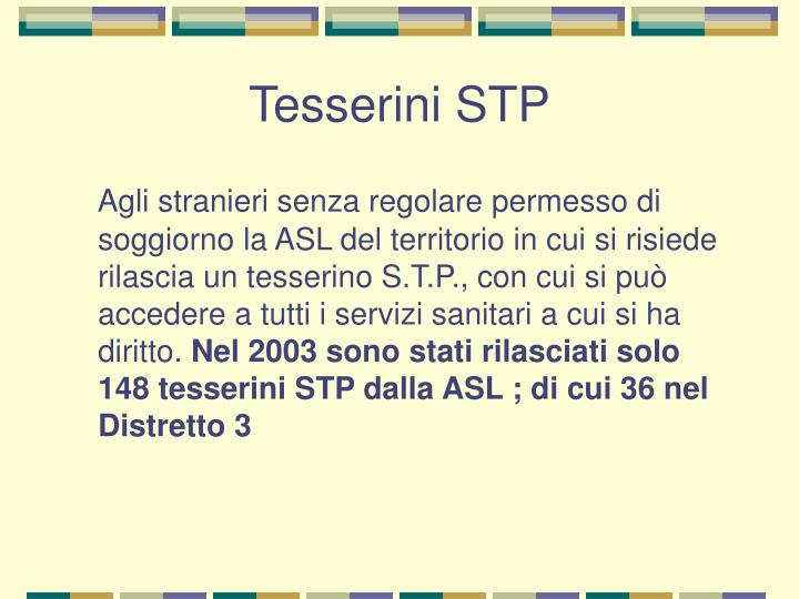 Tesserini STP