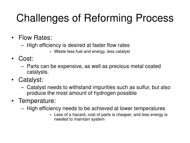 Challenges of Reforming Process
