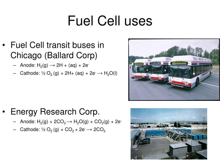 Fuel Cell uses