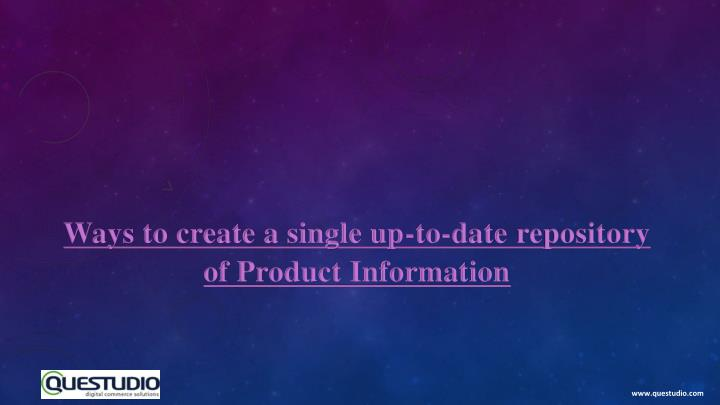 Ways to create a single up-to-date