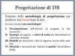 progettazione di db13