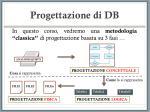progettazione di db14