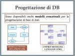 progettazione di db18