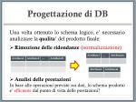 progettazione di db21