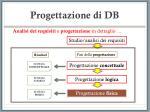 progettazione di db22