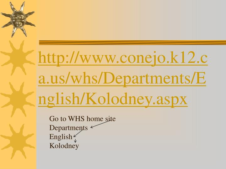 http://www.conejo.k12.ca.us/whs/Departments/English/Kolodney.aspx