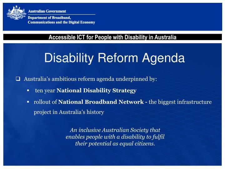 Disability Reform Agenda