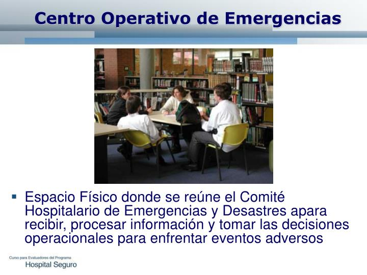 Centro Operativo de Emergencias