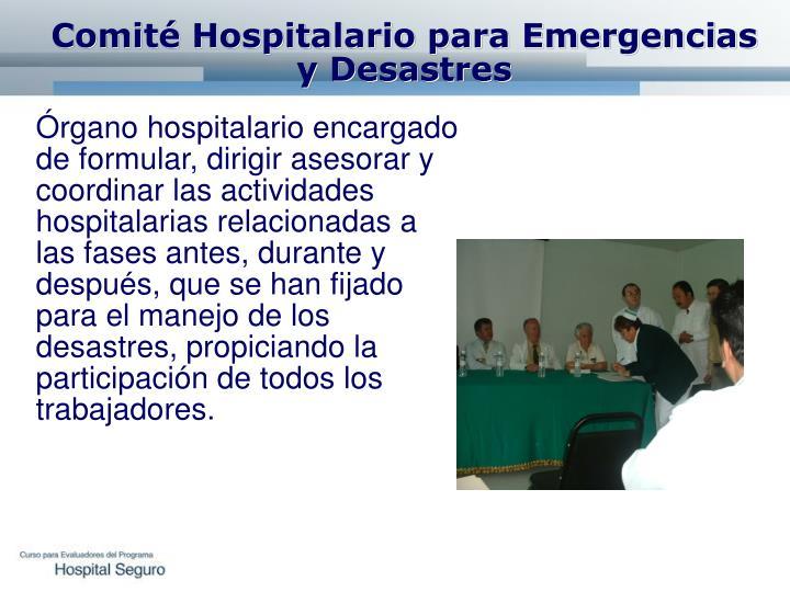 Comité Hospitalario para Emergencias y Desastres