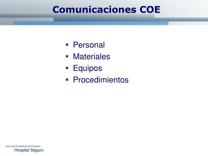 Comunicaciones COE