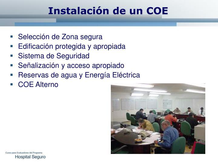 Instalación de un COE