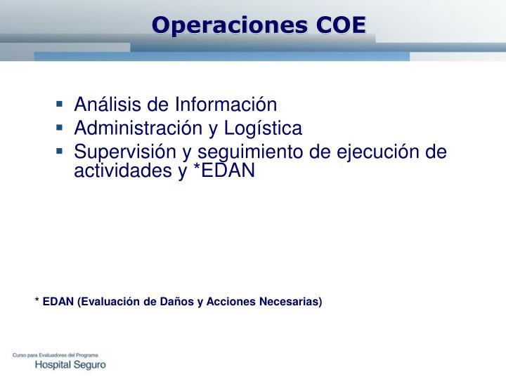 Operaciones COE