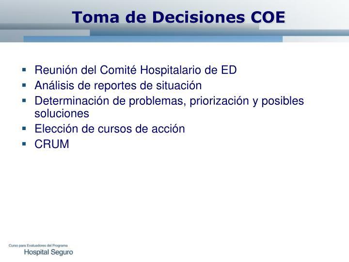 Toma de Decisiones COE