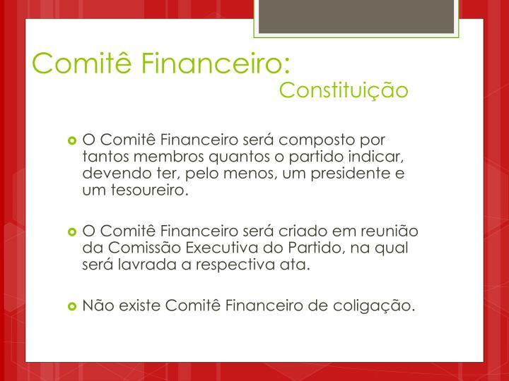 Comitê Financeiro: