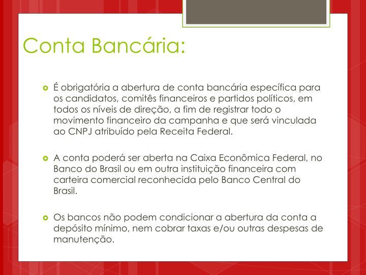 Conta Bancária: