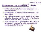 breakspear v ackland 2009 facts