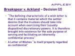 breakspear v ackland decision 2