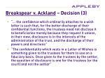 breakspear v ackland decision 3