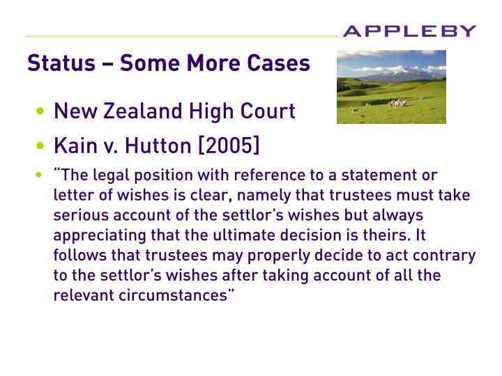 Status – Some More Cases