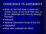conscience vs authority