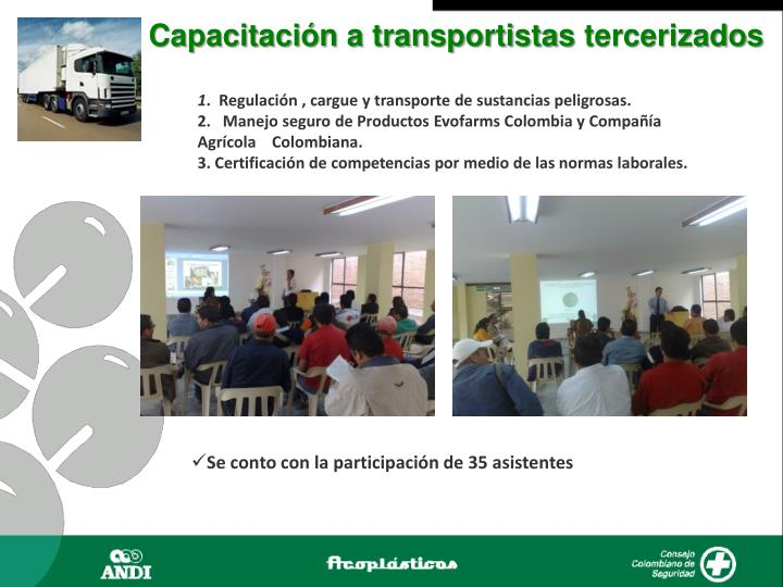 Capacitación a transportistas