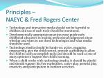 principles naeyc fred rogers center