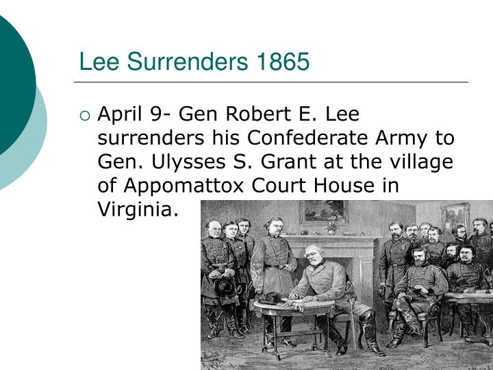 Lee Surrenders 1865