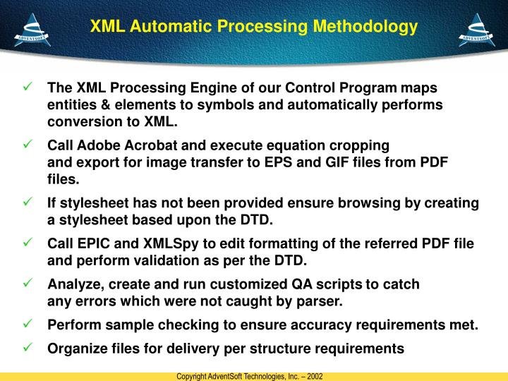 XML Automatic Processing Methodology