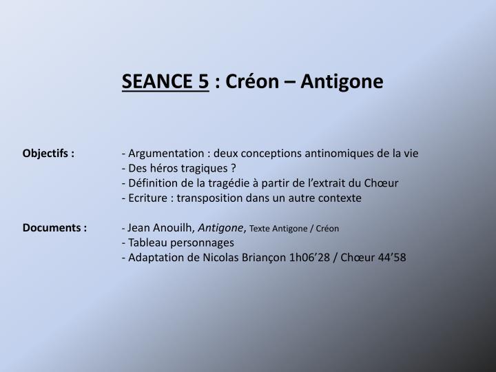SEANCE 5