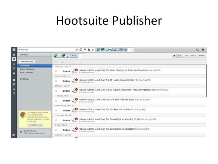 Hootsuite Publisher
