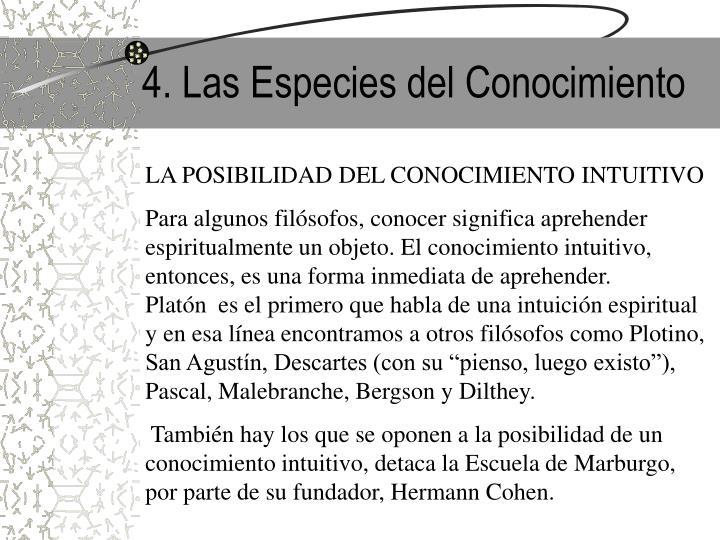 4. Las Especies del Conocimiento