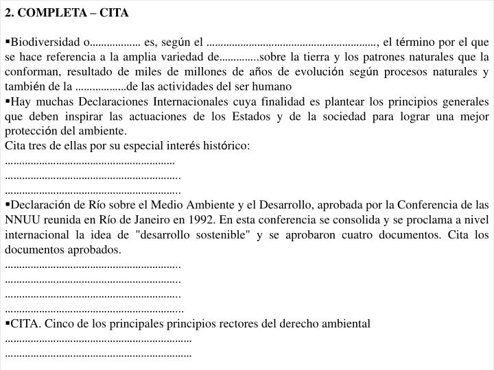 2. COMPLETA – CITA