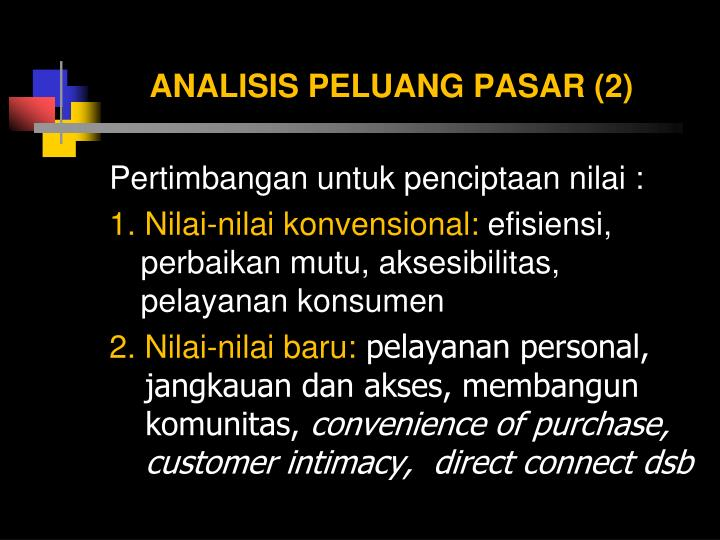ANALISIS PELUANG PASAR (2)