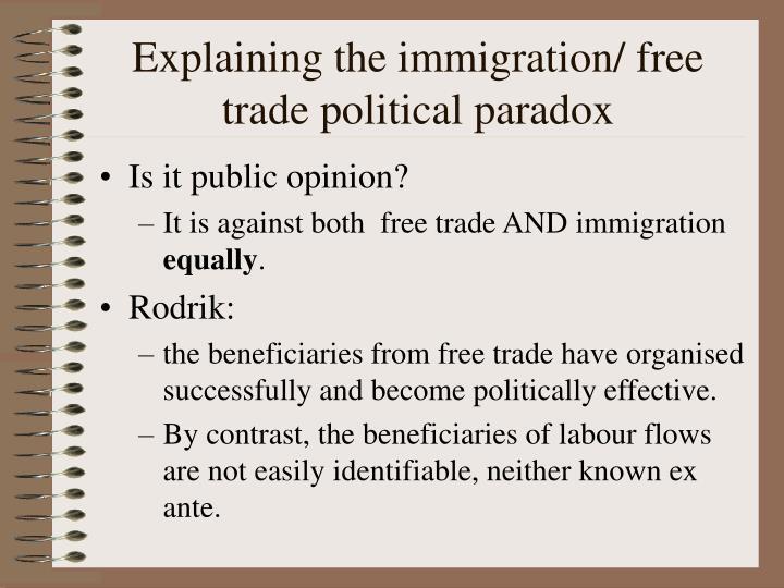 Explaining the immigration/ free trade political paradox