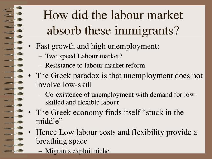 How did the labour market absorb these immigrants?