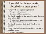 how did the labour market absorb these immigrants