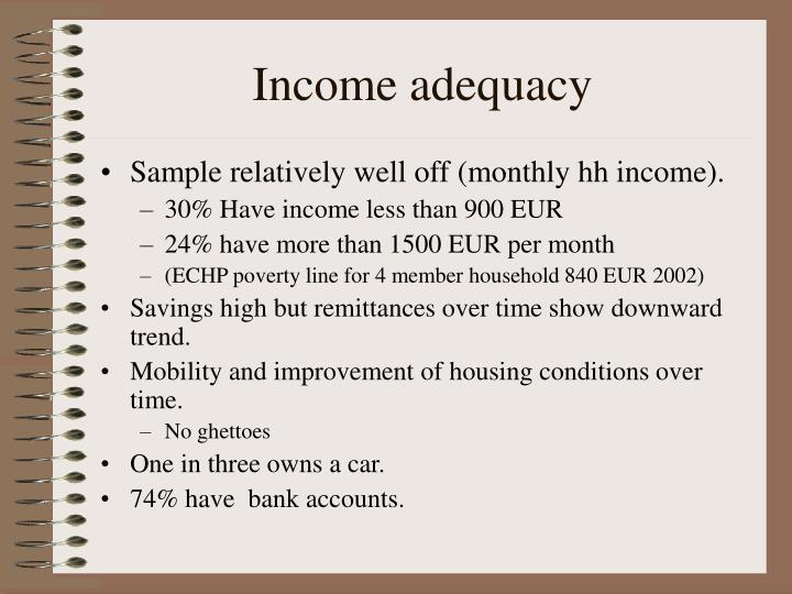 Income adequacy