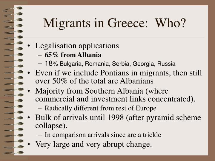 Migrants in Greece:  Who?